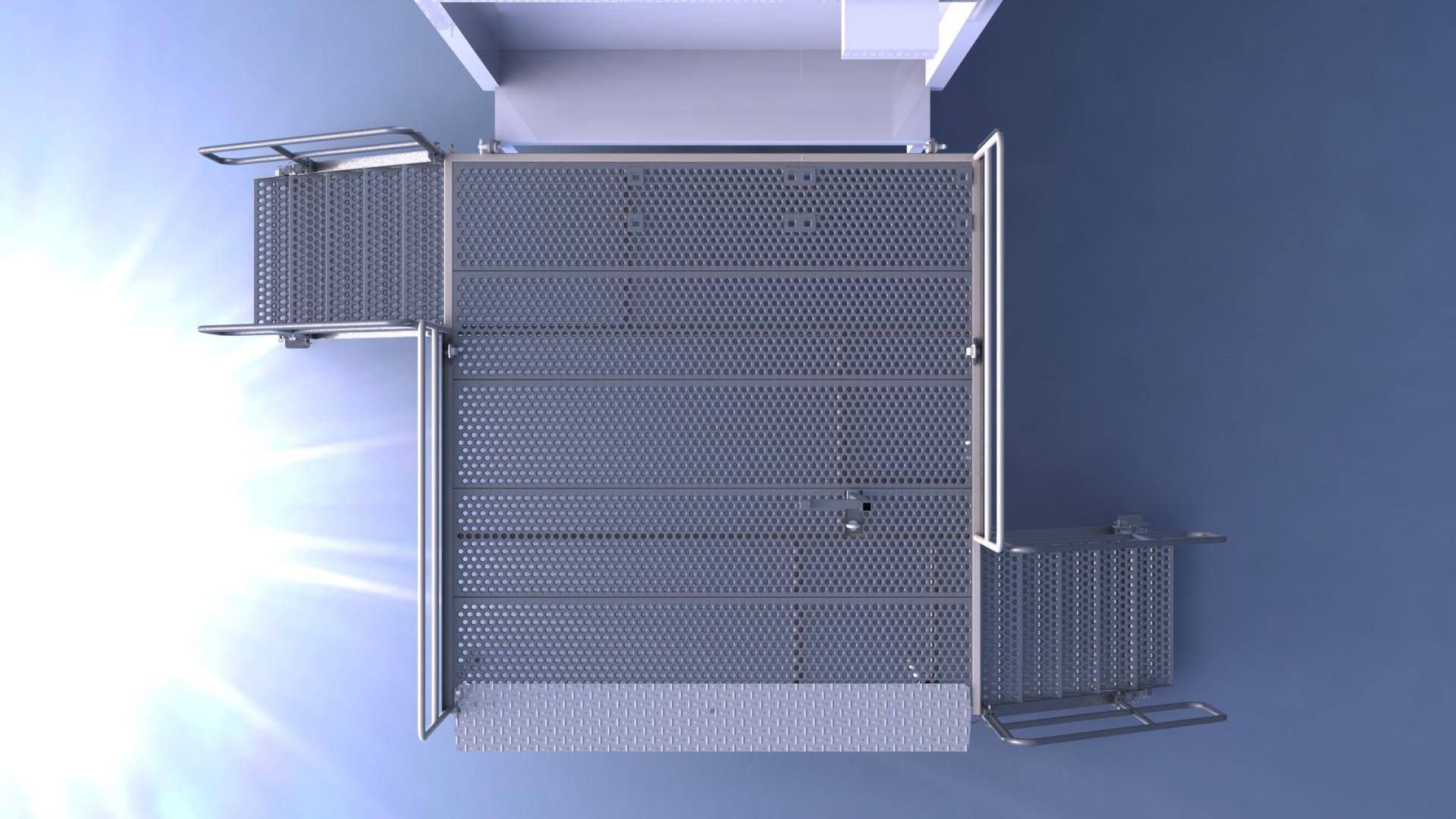 designing a working platform CAD