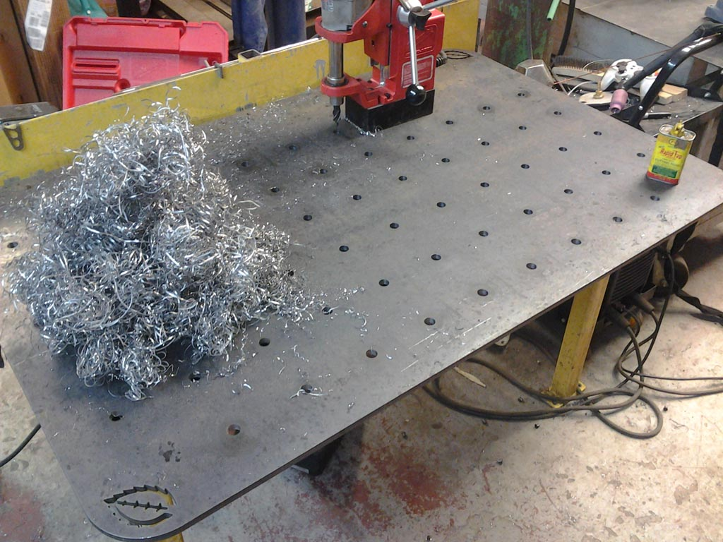mag drill welding table