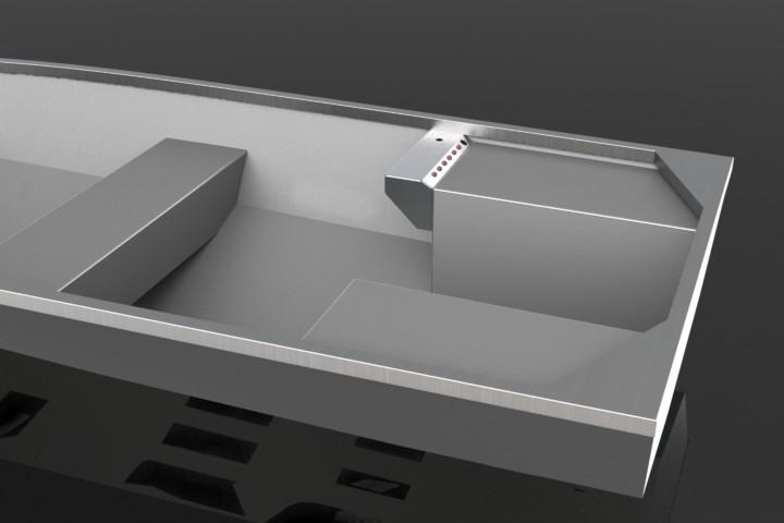 Aluminum boat console