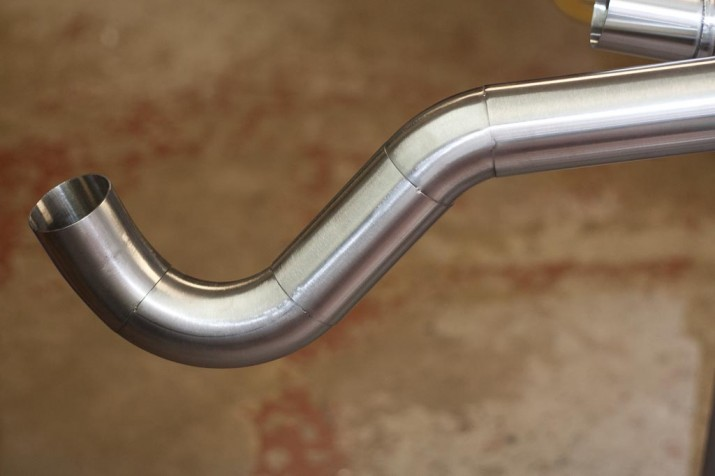Stainless Steel tacked exhaust