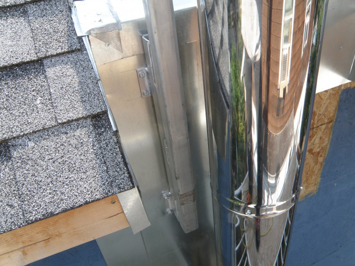 aluminum chimney support
