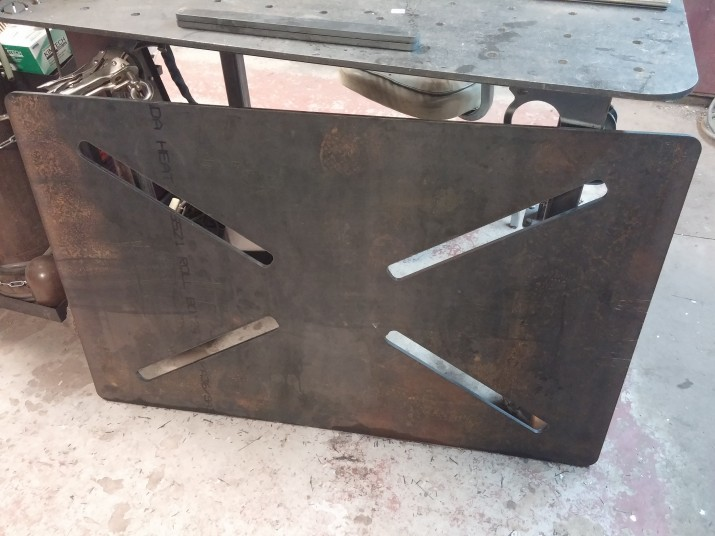 cnc cut welding tabletop