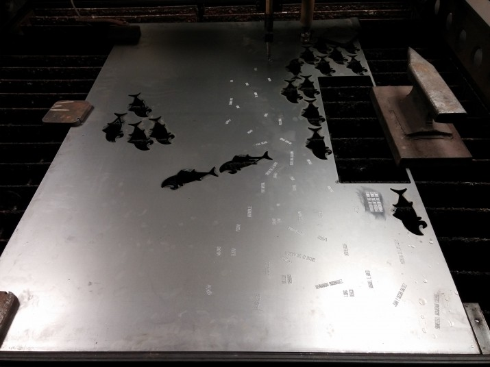 CNC cutting 14ga steel