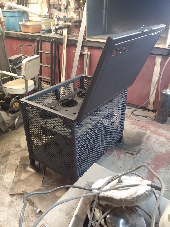 oxygen tank steel crate